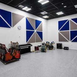 Music room with recording facilities