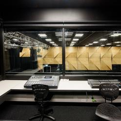 The control room overlooks our 520-capacity theatre